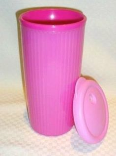 Tupperware Ice Prisms Acrylic Hot Pink 8.25 Party Dessert Plates Set of 4