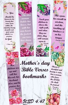 Mother's day bible verses bookmarks christian mother day bible christian bookmark bible journaling mom bible verse cards mothers day verse – Valentinstag Mothers Day Brunch, Diy Mothers Day Gifts, Happy Mothers Day, Bible Verses About Mothers, Mothers Day Quotes, Bible Prayers, Mom Quotes, Bible Scriptures, Bible Quotes