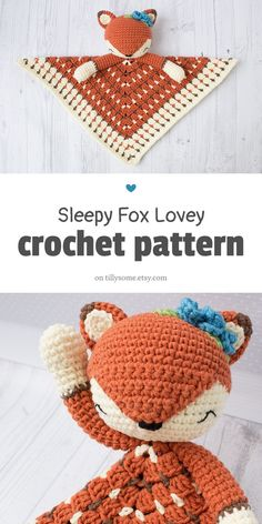 Crochet Patterns Free Baby Lovey Granny Squares Ideas For 2019 Crochet Lovey Free Pattern, Crochet Gratis, Crochet Fox, Crochet Blanket Patterns, Cute Crochet, Crochet For Kids, Crochet Dolls, Baby Blanket Crochet, Crocheted Baby Blankets