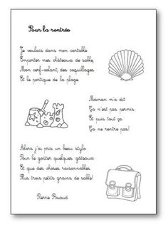 Poésie Pour la rentrée Pierre Ruaud French Class, French Lessons, School Resources, Teacher Resources, First Day Of School, Back To School, School Tool, French Resources, Becoming A Teacher
