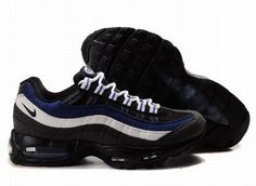 separation shoes 8aa26 c2795 Nike Air Max 95 Mens In Black Blue White Air Max 95 Mens, Nike Air