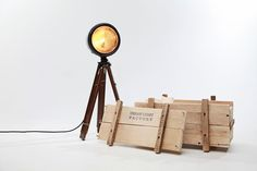 Vintage Lamps from the Headlights of Old Vehicles