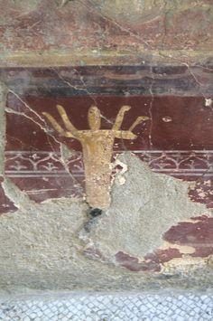 Casa de Neptuno y Anfitrite. Detalle. Yacimiento de Herculano. Italia.