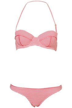 pink gingham bikini $60