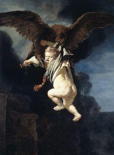 """""""O Estupro de Ganimedes"""" (1635), óleo sobre tela de Rembrandt. Drummond e o homossexualismo"""