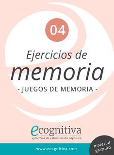 Descargar pdf con diferentes juegos de memoria para todas las edades. Cognitive Behavioral Therapy, Down Syndrome, Brain, Activities, Learning, School, Books, Alzheimer, Ideas