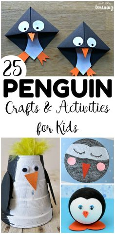 Penguin Crafts for Kids - Look! We're Learning! Have some winter crafting fun with these 25 penguin crafts for kids! There are plenty of fun penguin activities here for early grades! Winter Crafts For Toddlers, Winter Activities For Kids, Animal Crafts For Kids, Toddler Crafts, Winter Diy, Penguin Craft, Projects For Kids, Fun Crafts, Christmas Crafts