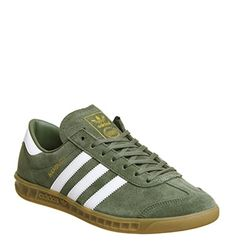 adidas Hamburg Khaki White Exclusive - His trainers Adidas Sneakers, Shoes Sneakers, Shoe Collection, Suede Leather, Sneakers Fashion, Designer Shoes, Adolf Dassler, Trainers, Shoe Designs