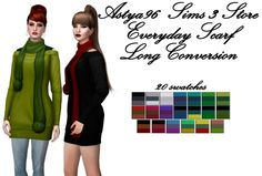 Everyday Scarf Long Conversion at Astya96 • Sims 4 Updates