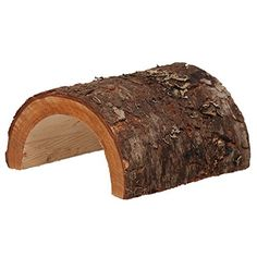 Real wood bark and all smoothly hollowed on the inside to create hiding place and refuge for reptiles and small animals. Totally pet safe....