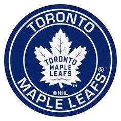 NHL - Toronto Maple Leafs Roundel Mat diameter Size: diameter Looking for a unique rug to decorate your home or office with? Roundel Mats by Sports Lice Toronto Maple Leafs Wallpaper, Toronto Maple Leafs Logo, Maple Leafs Hockey, Nhl Logos, Sports Logos, Nylon Carpet, Nightlights, Living Room Carpet, Rugs On Carpet