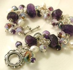 Amethyst and Pearl Bracelet by LilinovaDesigns on Etsy, $72.00