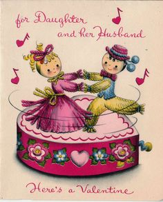 21 best daughter valentines images on pinterest valantine 1950s for daughter and her husband valentines greetings card m4hsunfo