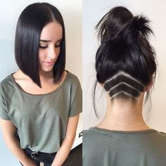 Gorgeous Dark Blunt Long Bob Hair By @hairbyrubymay #UCFeed… More