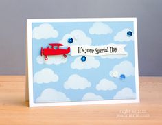 The Cutting Edge Challenge12 card by Jean Manis (Right As Rain) - Impression Obsession plane  - Birthday