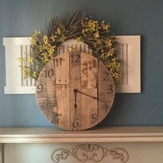 Wonderful repurpose wall clock to decorate your wall . Great present for anyone come take a look
