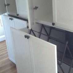 I so wish I had the room for this. Unique Washer Dryer Built-Ins - traditional - laundry room - baltimore - Baltimore Architectural Detail LLC Mudroom Laundry Room, Laundry Room Remodel, Laundry Room Design, Laundry In Bathroom, Laundry Cupboard, Laundry Basket, Drying Rack Laundry, Clothes Drying Racks, Laundry Storage