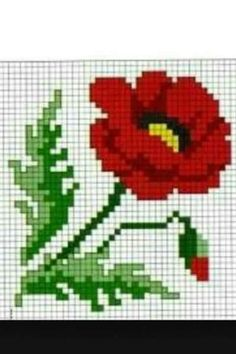 Small Cross Stitch, Cross Stitch Cards, Cross Stitch Rose, Cross Stitch Flowers, Cross Stitching, Cross Stitch Embroidery, Crochet Cross, Crochet Home, Crochet Motif