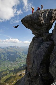 base jumping. i must own a wing suit before i die or my life will have been incomplete and for nothing
