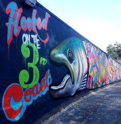 Graffiti mural 7th & Rio Grande, Austin TX 78701 Austin Murals, Texas Treasures, Graffiti Murals, Rio Grande, Austin Tx, Art Forms, Photo Ideas, Appreciation, Street Art