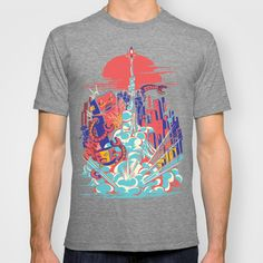 """""""Smash! Zap!! Zooom!! - Generic Spacecraft"""" T-Shirt by Marco Angeles on Society6."""