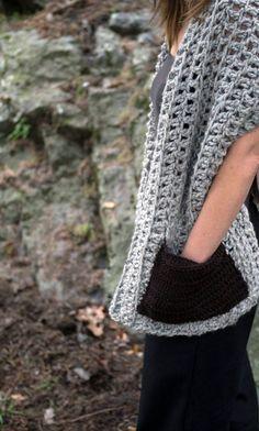 Sticks and Stones Cardigan Crochet pattern by Kraftling Crochet Shawls And Wraps, Crochet Scarves, Crochet Clothes, Crochet Blankets, Crochet Gifts, Easy Crochet, Knit Crochet, Double Crochet, Single Crochet