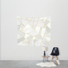 White Stone Wall Tapestry by Elisabeth Fredriksson   Society6