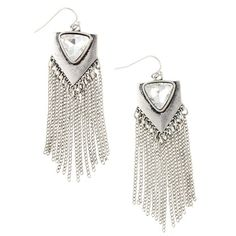 These oxidized silver tone fringe statement earrings are all about luxe bohemian glamour. #boho #heirloomfinds