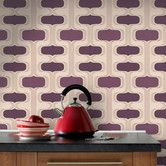 Found it at AllModern - Contour Kitchen and Bath Groovy Geometric Wallpaper