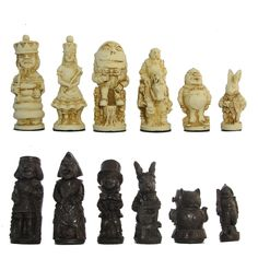 Check out the deal on Adventures of Alice Crushed Stone Chess Pieces at Your Move Chess & Games