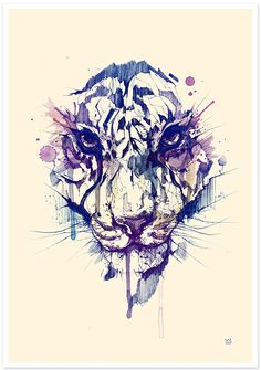 TIGER POSTER by DSORDER, via Behance