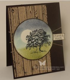 Wow! What a great guy card! It uses the Hardwood background with Lovely as a Tree.