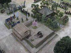More Samurai wargaming goodness from Salute. This beautiful table at the 2012 convention was presented by Oshiro Model Terrain. Samurai, Japanese Buildings, Minecraft Medieval, Game Terrain, Japan Games, Wargaming Terrain, Outdoor Furniture Sets, Outdoor Decor, Minecraft Buildings