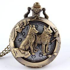Gorgeous Wolf Watch. #pocketwatch #wolf #wolves #gothic #whitewolfwatchshop