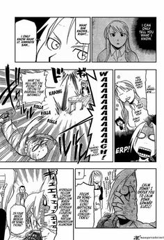 FMA manga:  while in a delicate state, Edward realized he loves Winry and he's a dork.
