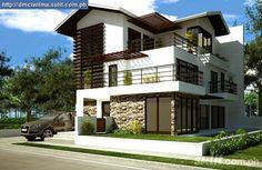 Casas - Houses - Another zen house that I like. Dream Home Design, Modern House Design, Modern Houses, Style At Home, Facade Design, Exterior Design, Philippines House Design, Philippine Houses, Asian House