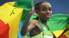 Ethiopia's Almaz Ayana smashes the world record to win Olympic gold in the…