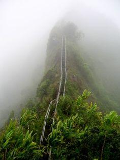 Haiku Stairs of Oahu in Hawaii, United States