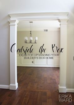 LOVE THIS IDEA! I'm going to do that in the kitchen/dinning room entry and dinning room/living room entry!