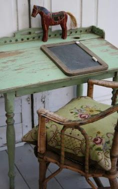 Vintage desk and. Chair...