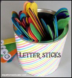 Letter Sticks