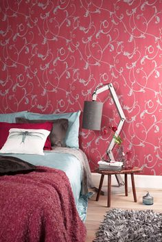Behang Camarque rood - BN Wallcoverings
