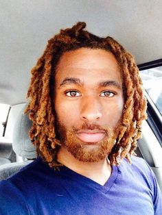 Beautiful loc style & color fit for a king!