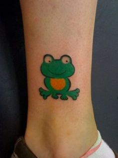 Frog Ankle Tattoo Designs