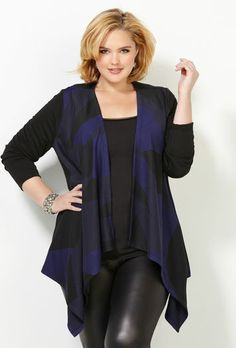 Geo Print Cascading Cardigan - Just bought one and I love it!