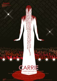 Iconic Moments Carrie Film Poster - Created by Steven Parry - www.stevenparry.net