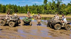 ATV mud pit soccer at The Big Nasty ATV Park in Bloomingdale, GA.