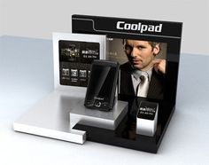 This is an acrylic cell phone display stand for man's business phone. Pos Display, Counter Display, Store Displays, Display Design, Booth Design, Product Display, Display Stands, Display Cases, Phone Jokes
