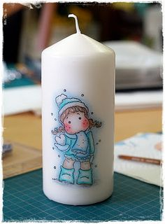 Transfer pictures to candles