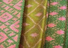 - Jen finds inspiration in traditional patterns and color lays Thai Pattern, Pattern Art, Print Patterns, Day Spa Decor, Mad About The House, Tribal Fabric, Nursery Design, Green Fabric, Color Combos